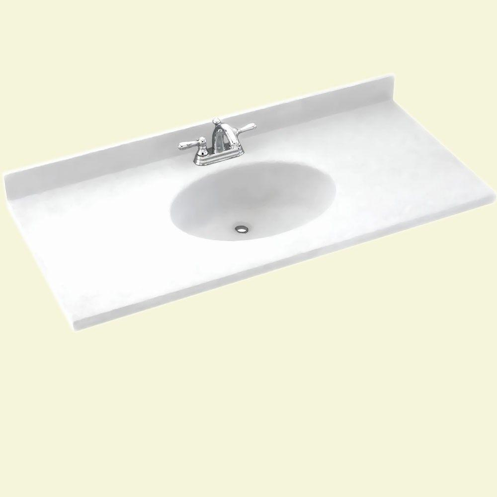 Swan Chesapeake 31 In Solid Surface Vanity Top In White With