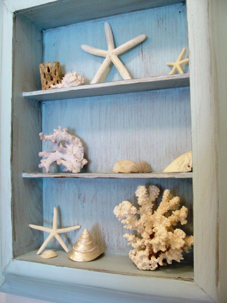 old medicine cabinet into shell display