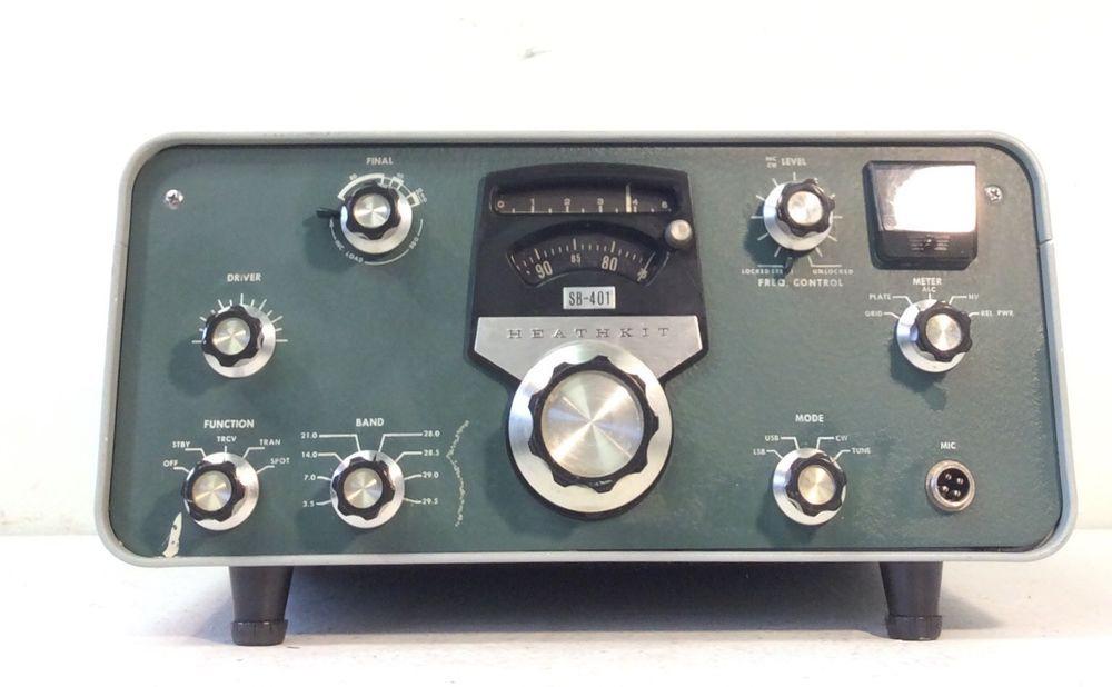 Heathkit Sb 401 Vintage Ham Tube Radio Transmitter Ebay Radio Transmitter Ham Radio