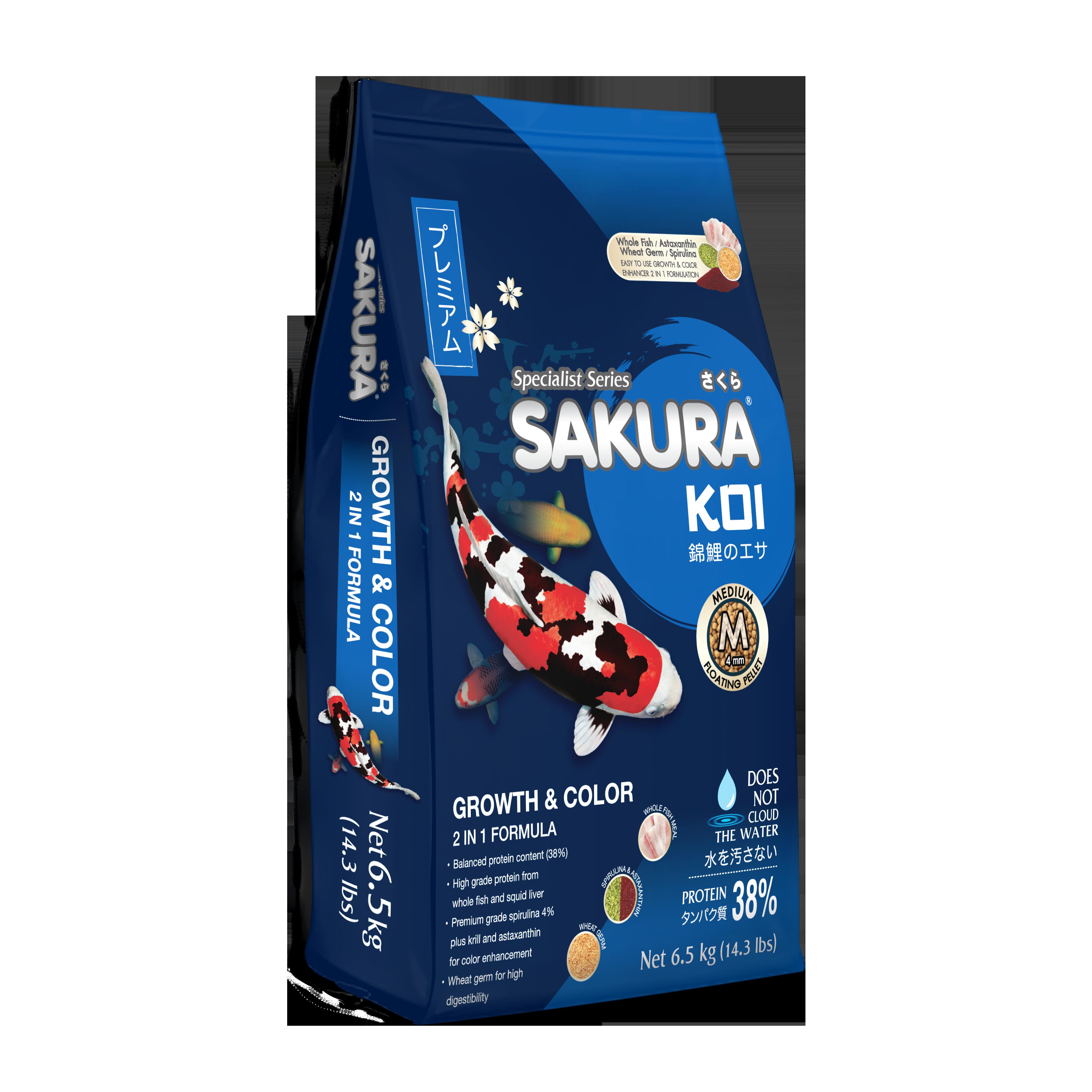 Sakura Koi Growth Color 2 In 1 Formula อาหารปลาคาร ฟเร งโต เร งส แบบ 2 อ น 1 ในถ งเด ยวก น ขนาด 6 5 ก โลกร ม เพ อการเล ยงปลาท สะดวกและให ผลล พธ ท ยอดเย แบบ