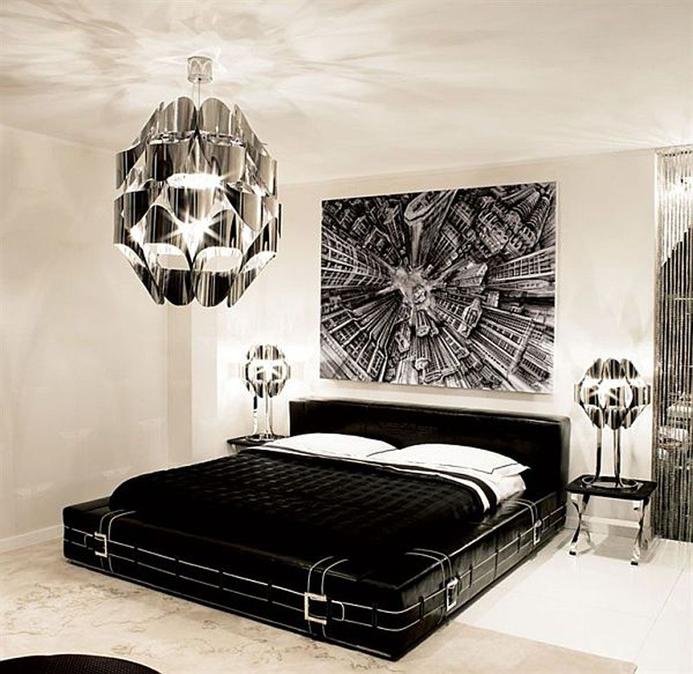 Bedroom designs for boys black - Black And White Bedroom Interior Design Ideas