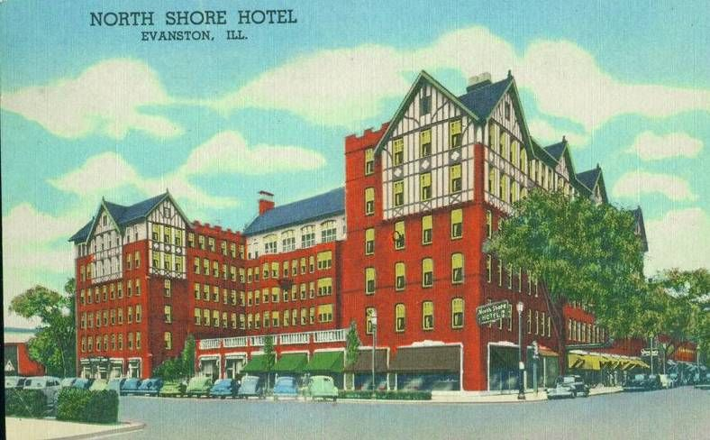 1950 S Postcard North Shore Hotel Evanston Il Things I Love