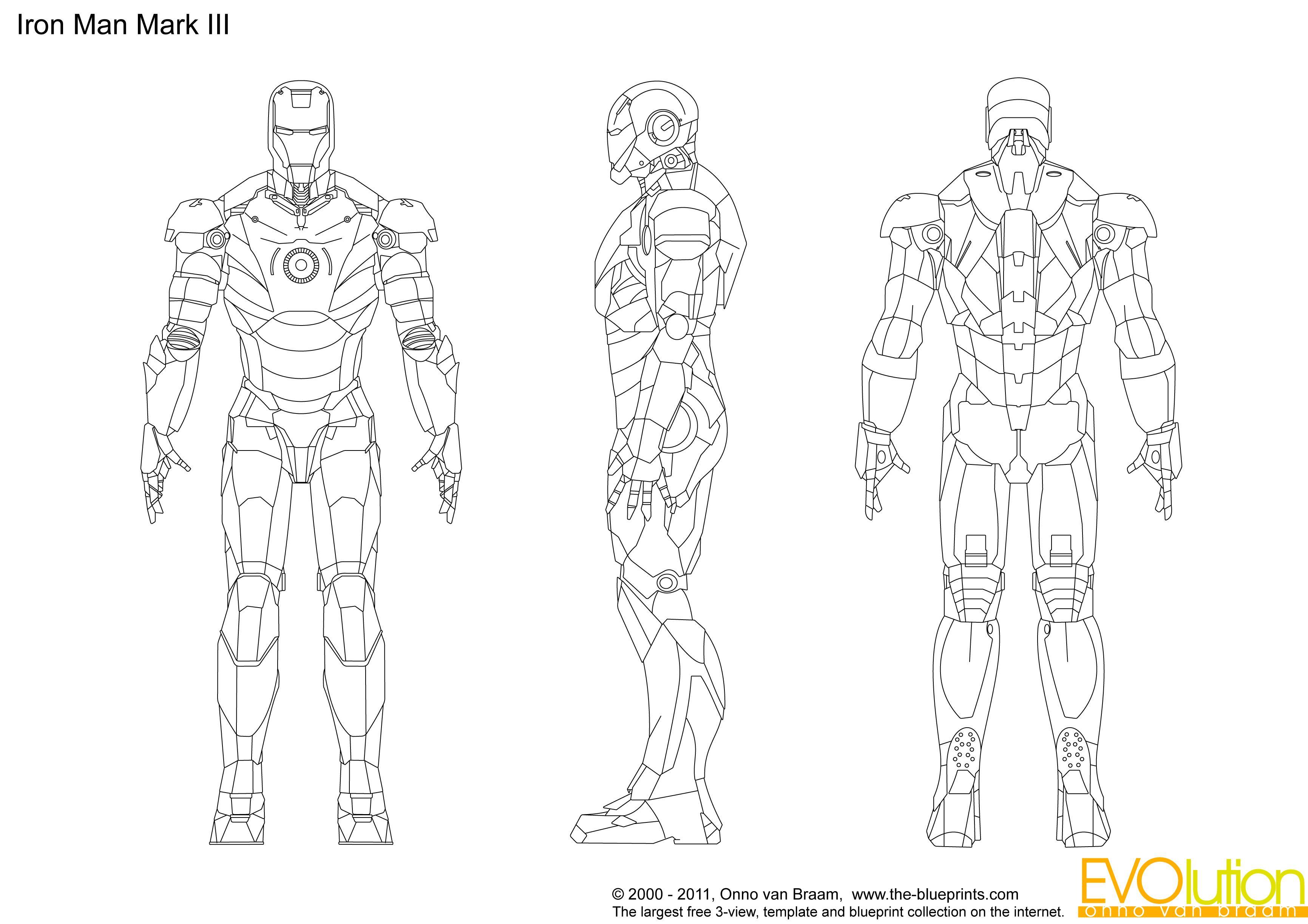Iron Man Suit Design Blueprints