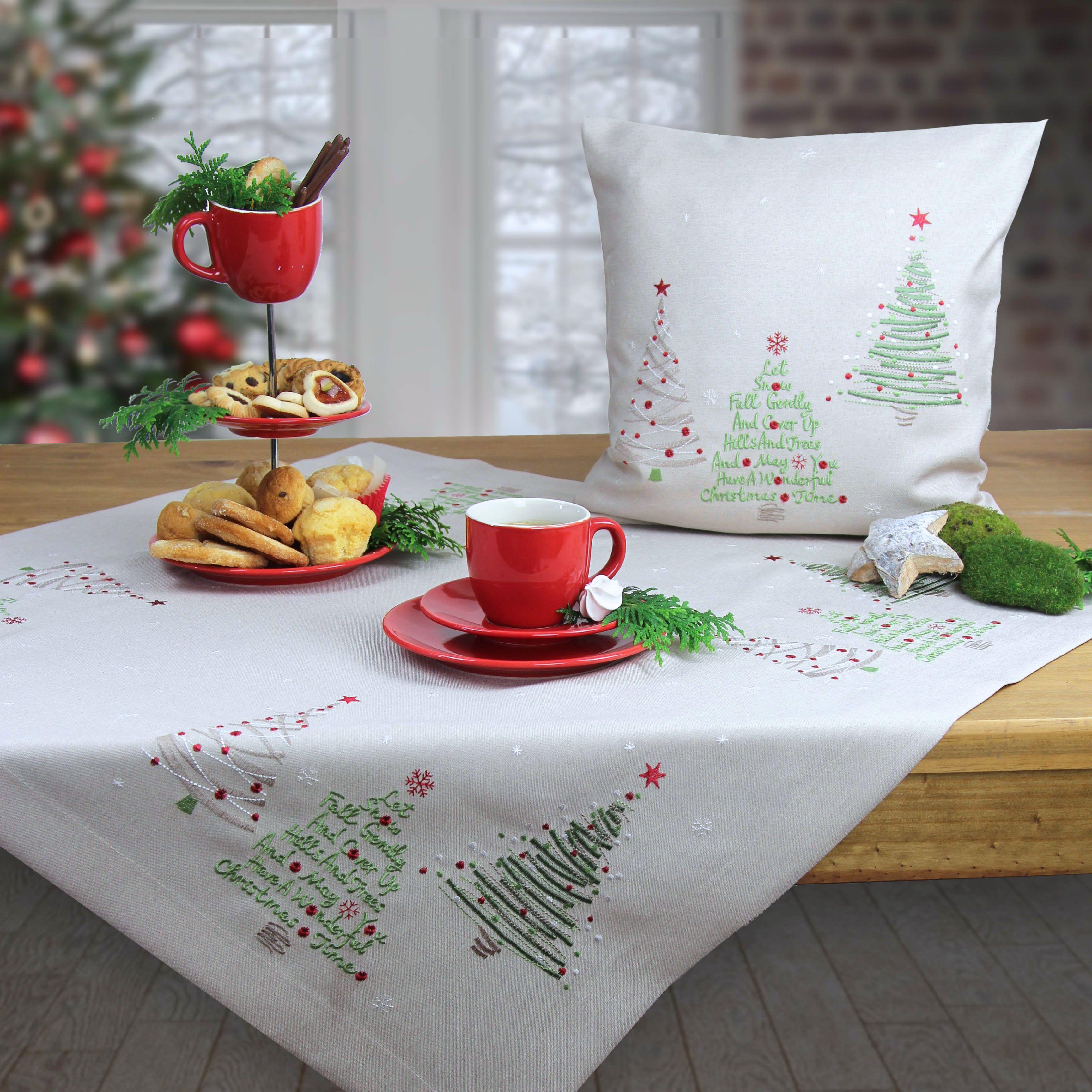 weihnachten tischdecke und weihnachtskissen online bestellen. Black Bedroom Furniture Sets. Home Design Ideas