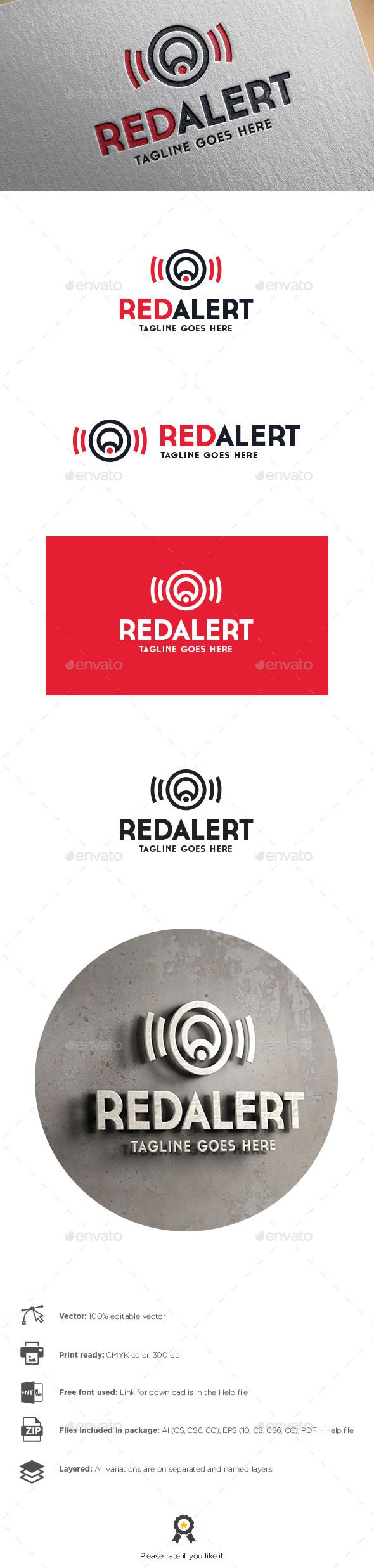 Red Alert Letter A Logo  Letter Logo Logos And Logo Templates