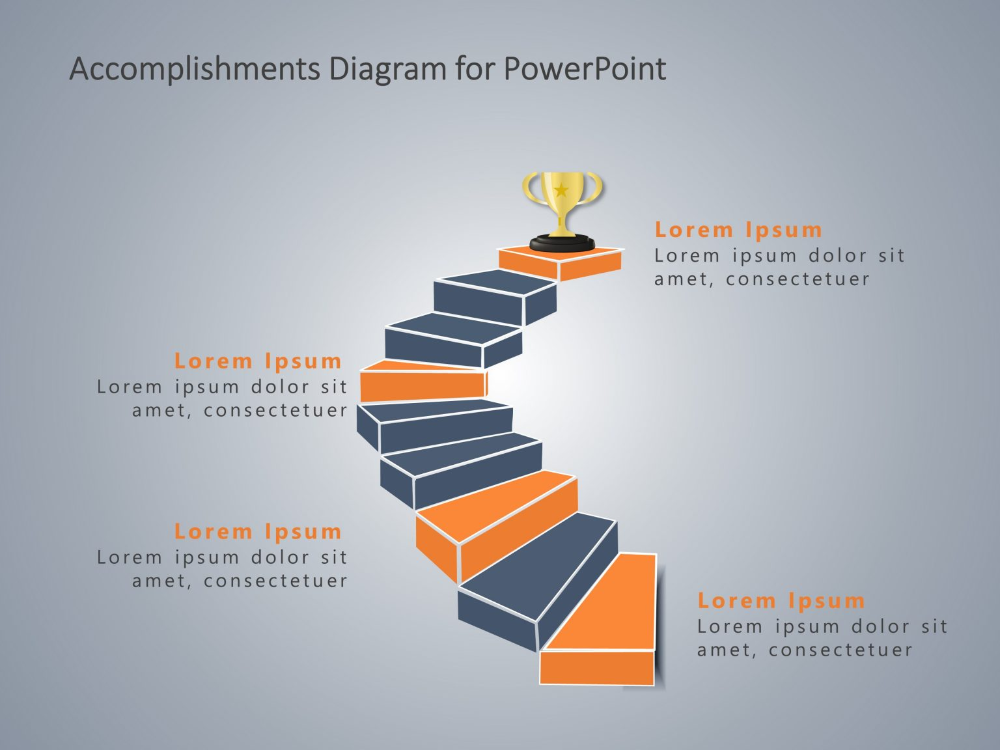 Accomplishments Powerpoint Staircase Business Powerpoint Presentation Presentation Slides Templates Infographic Powerpoint