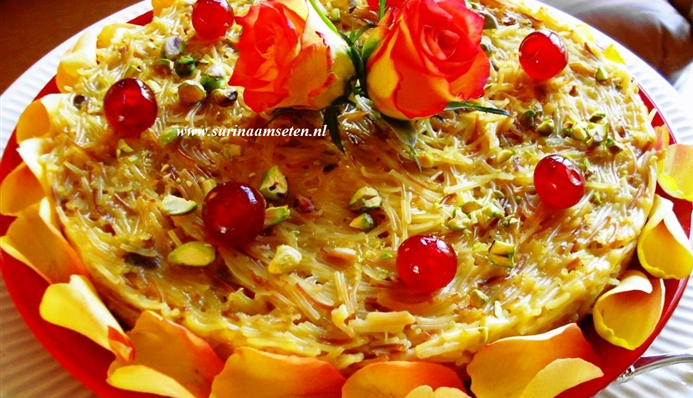 Surinaams eten – Vermicelli (taart)