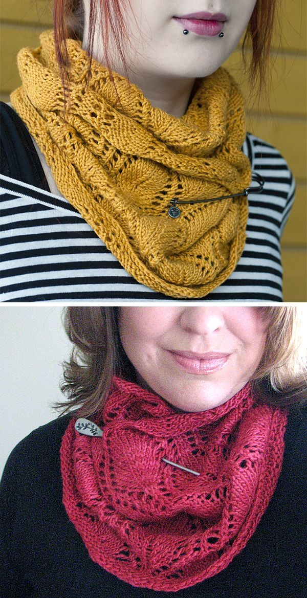 Free Knitting Pattern for A Noble Cowl - Drapey lace cowl ...