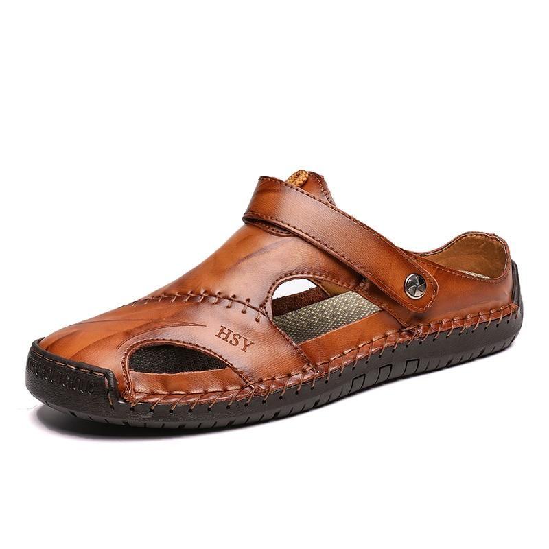 438312e4e757c Times New Roman Men Sandals Genuine Leather Cowhide Men Shoes Summer ...