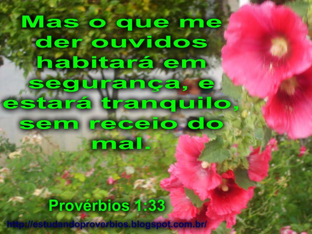 Provérbios 1:33