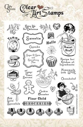 Sweet Stuff   Clear Art Stamps $20