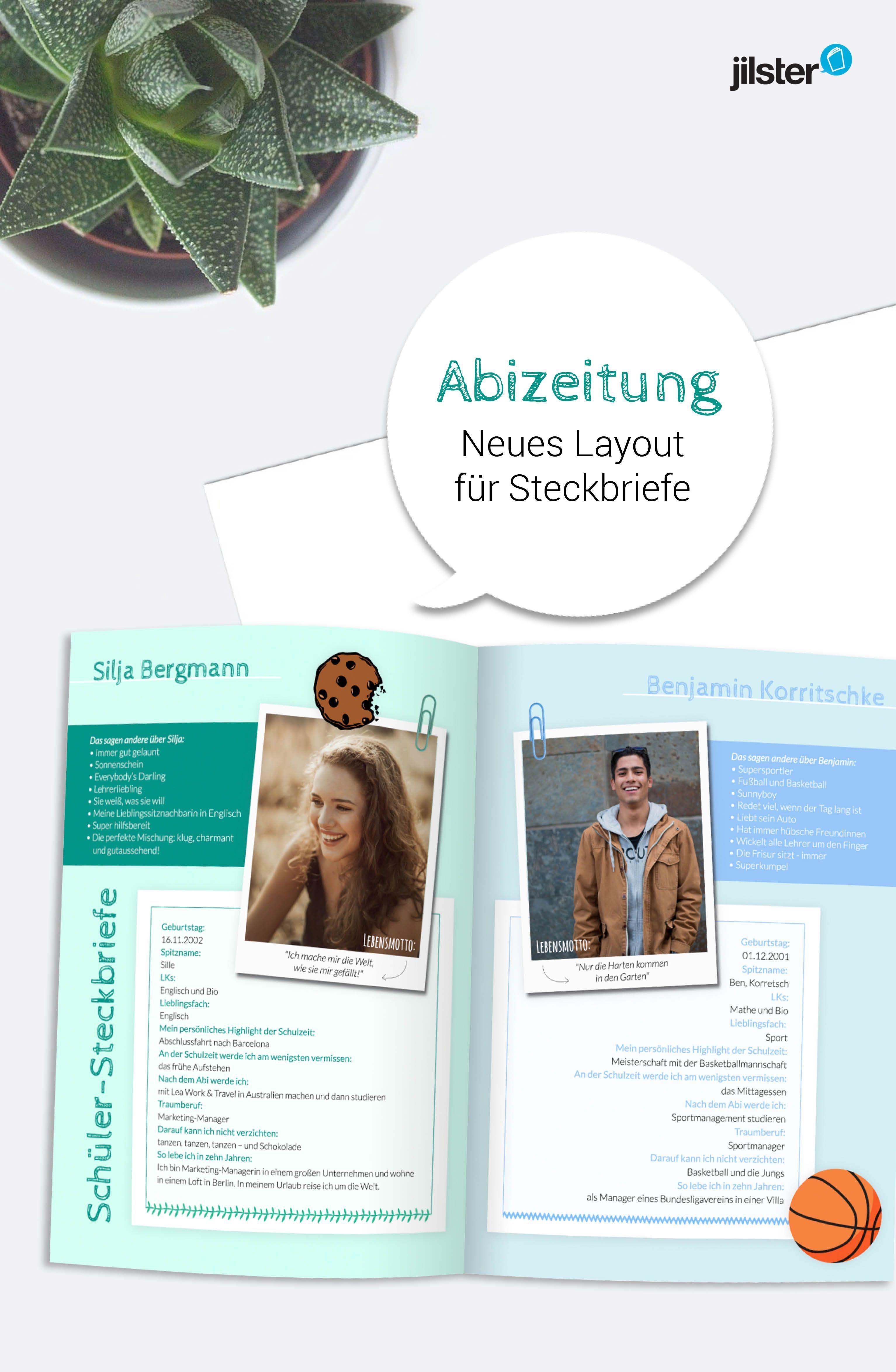 Steckbrief ideen abizeitung 5 Abizeitung