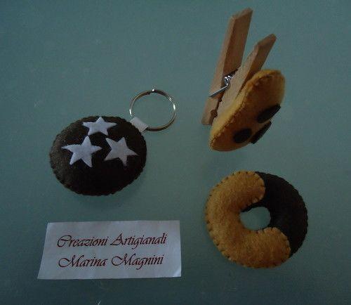Tutorial: come fare i biscotti di feltro a forma di Pan di Stelle, Abbracci e Gocciole  <3