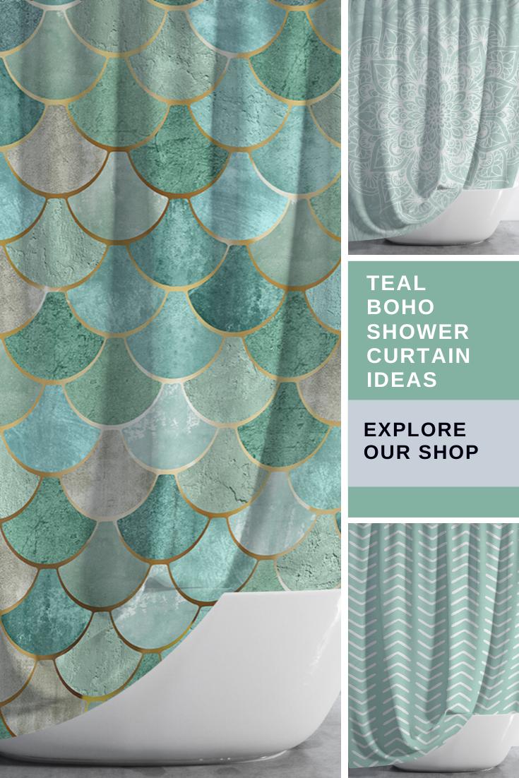 Boho Shower Curtain Bohemian Ideas Teal Bohemian Shower Curtain