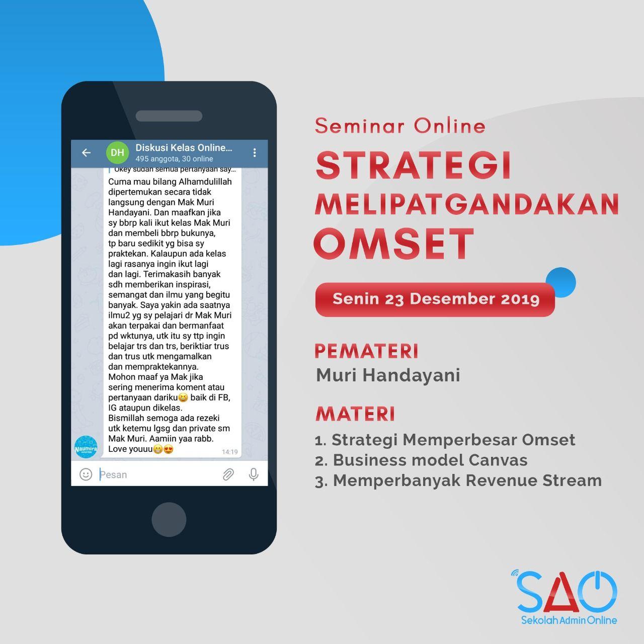 Sekolah Admin Online Seminar Online Startegi Melipatgandakan Omset Online Seminar Phone