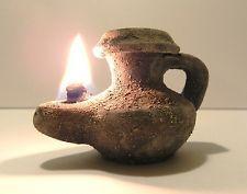 Biblical Oil Lamp Holy Land Ancient Jerusalem Roman Herodian Clay Pottery Menor Ancient Oil Lamp Oil Lamps Ancient Lamp