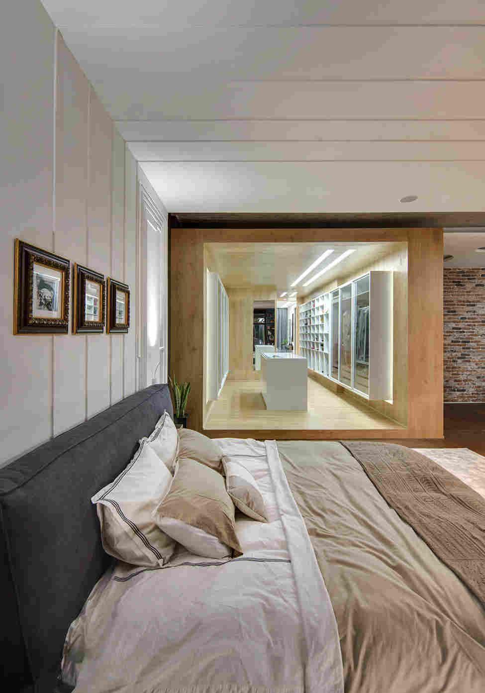 Urban loft bedroom  Интерьер квартиры Охдесса в стиле городского лофта  arq