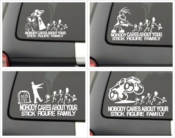Nobody Cares About Your Stick Figure Family Car Decals With