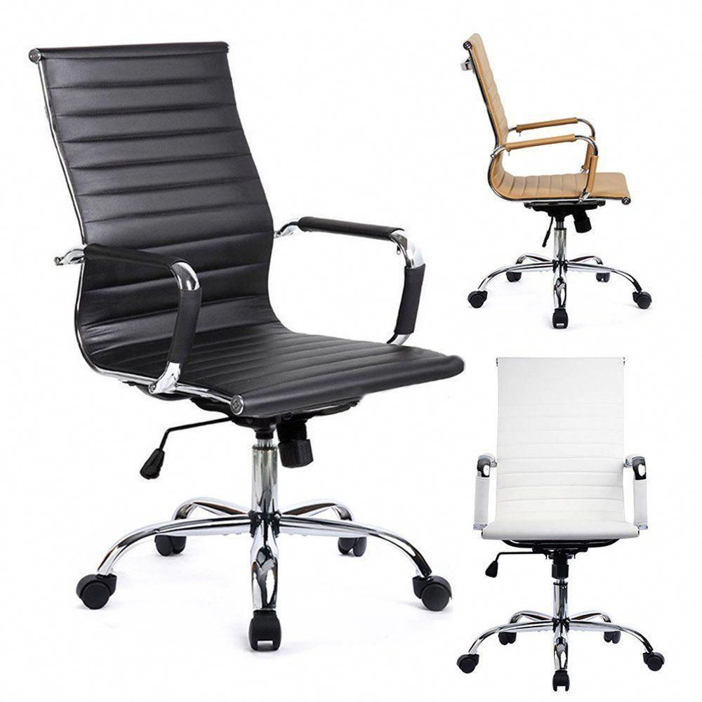 White Desk Chairs Without Wheels Gtracing Leather Ergonomic Conference Fur Gt838 White Office Chair