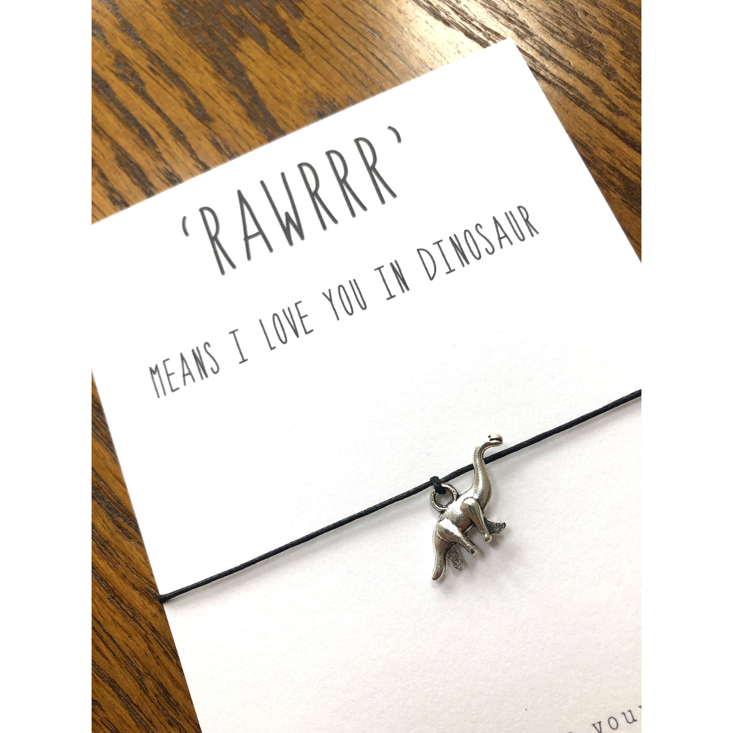 Rawrr Means I Love You In Dinosaur Make A Wish Cute Wish Etsy Wish Bracelets My Love Love You