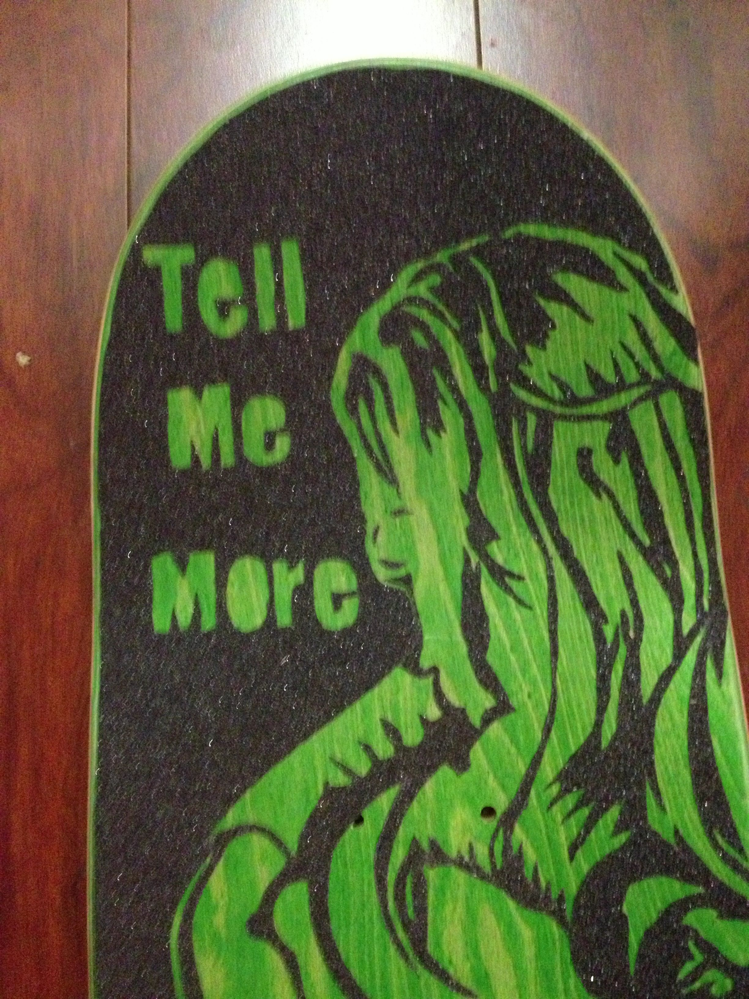 This Is Hand Cut Grip Tape I Did On Top