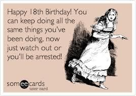 Funny 18th Birthday Wishes Kappit Someecards Humor Stupid Girl