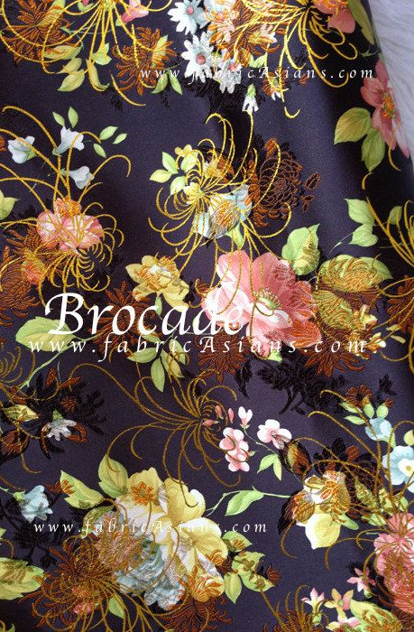black floral brocade chinese brocade floral fabric wholesale