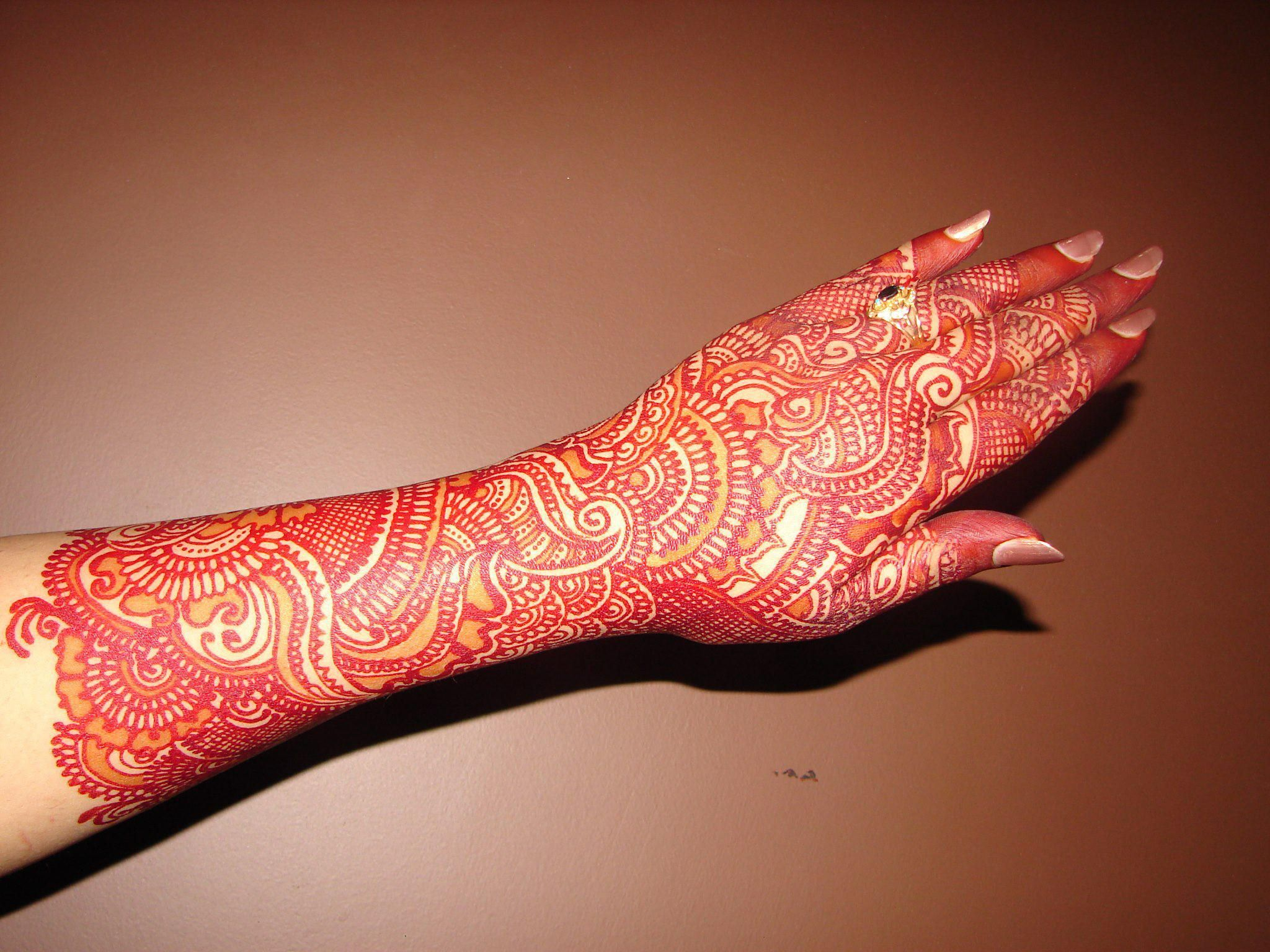 Attractive dulhan henna mehndi design for full hand - Mehndi Designs 2014 For Girls In Pakistan Asian Brides Mehndi Designs On Their Hands Arms And Feet On The Day Of The Mehndi Function Apply All Countries