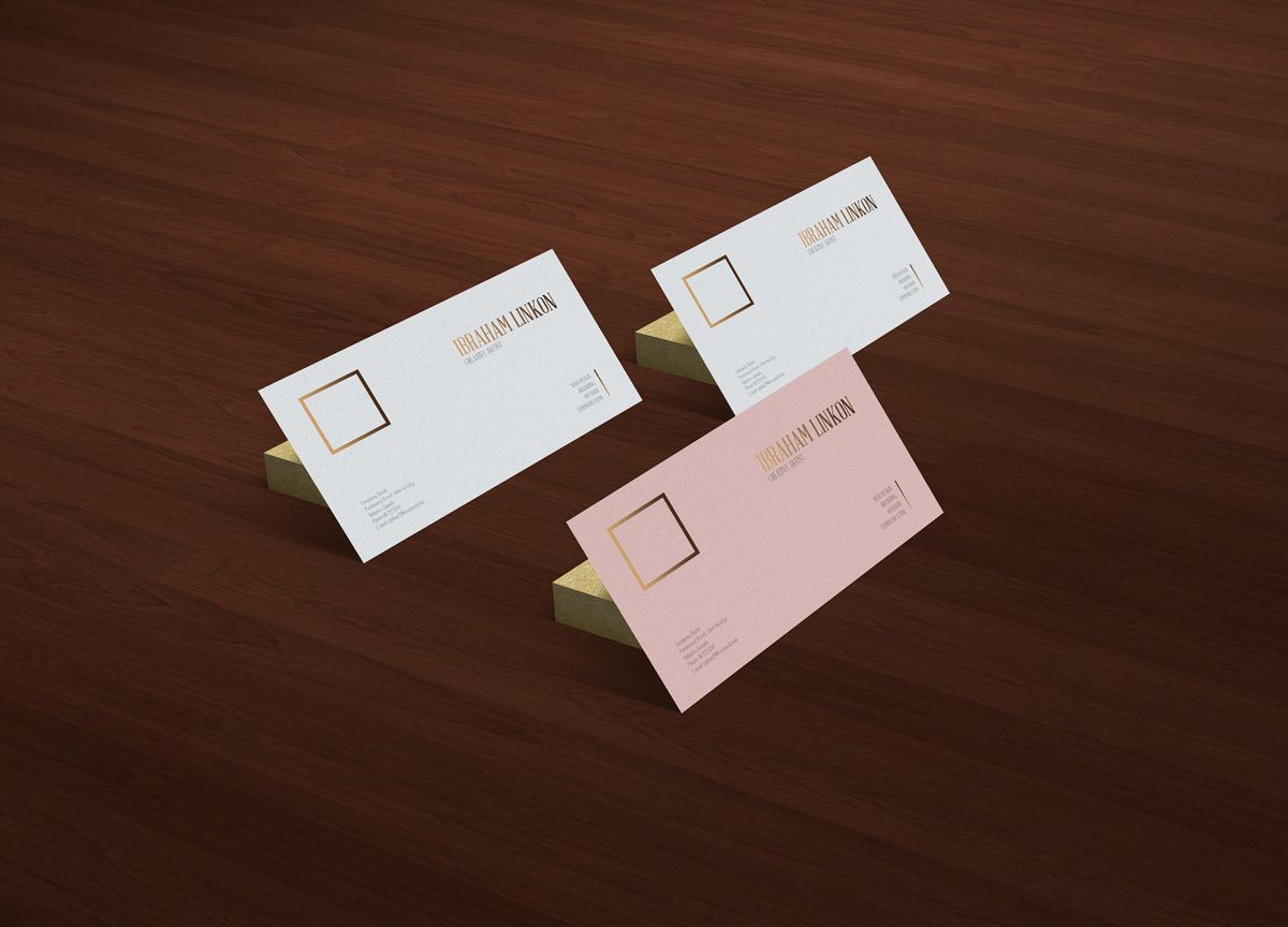 Business Card MockUp PSD Free Template | Mockup, Free business cards ...
