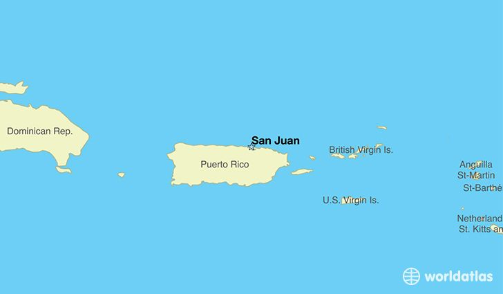 map showing the location of Puerto Rico | Puerot | Puerto Rico ...