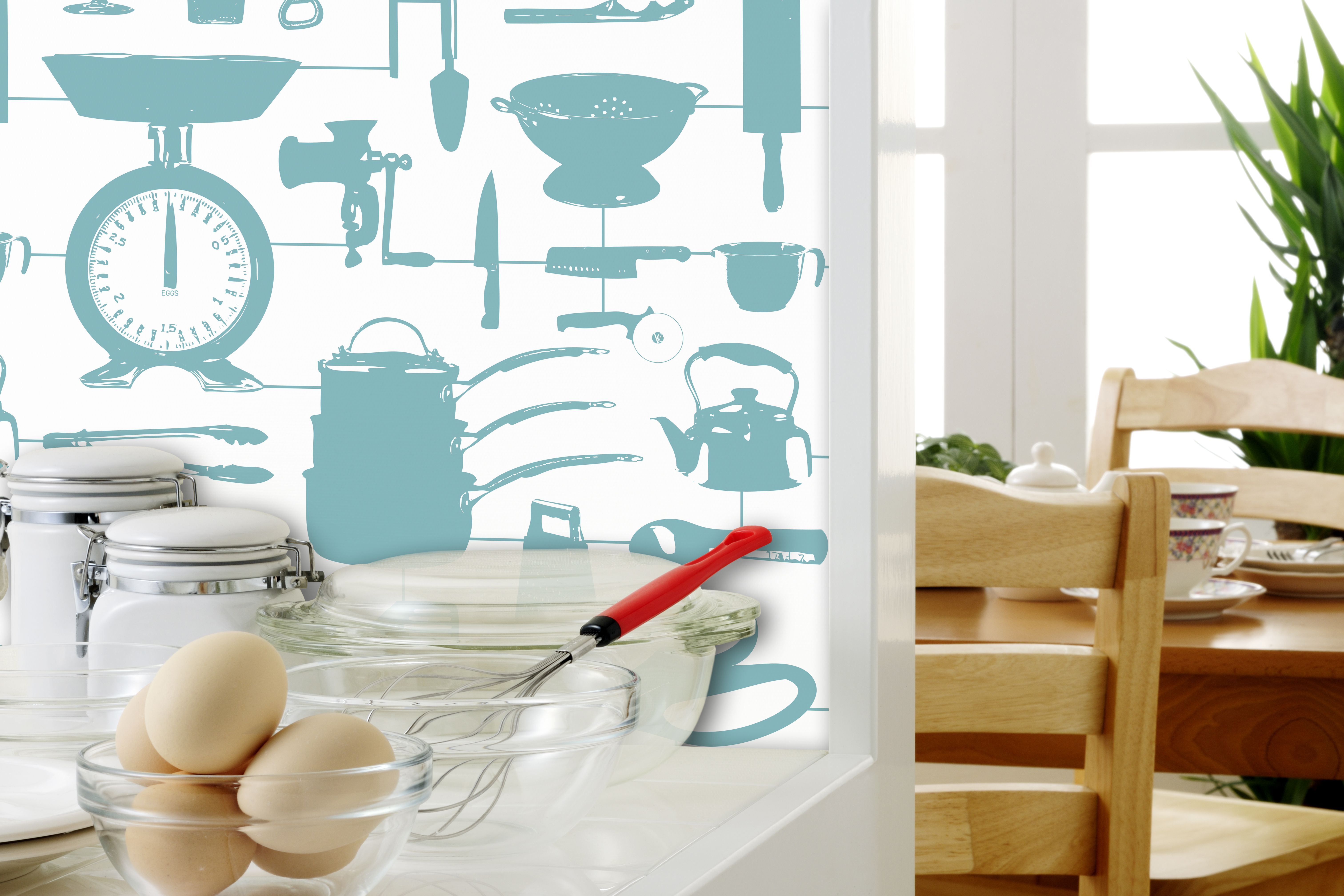 Airfix Kitchen\' wallpaper designed by Victoria Eggs for Graduate ...