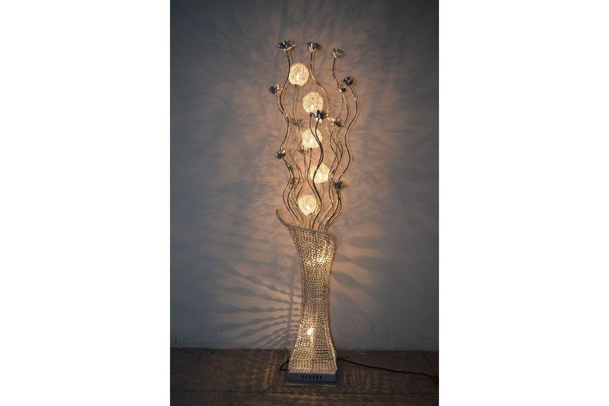 Big Floor Lamps | Large Silver Flower Vase Floor Wire Lamp | love it ...