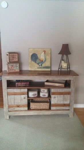 Wall unit made from pallets   DIY PALLET PROJECTS   Pinterest ...
