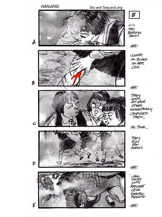 Martin Asbury - Storyboards - Nanjing Pop colour Color scripts - comic storyboards