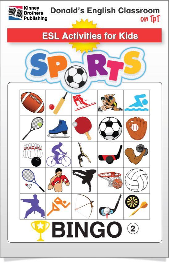 esl games sports bingo ela ideas for kids esl word work games vocabulary games. Black Bedroom Furniture Sets. Home Design Ideas