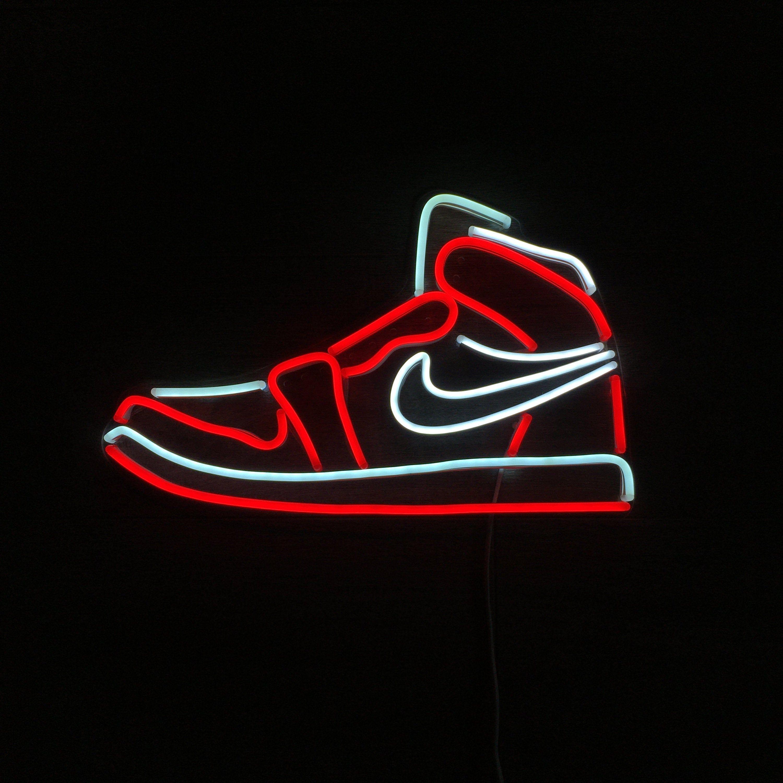 Flexible Neon Light Nike Air Jordan 1 Mid By Neonrainbowcraft On Etsy Neon Wallpaper Cool Neon Signs Jordan Logo Wallpaper