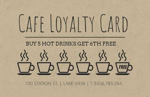 Editable Cafe Loyalty Card Template Loyalty Card Program Loyalty Card Template Loyalty Card