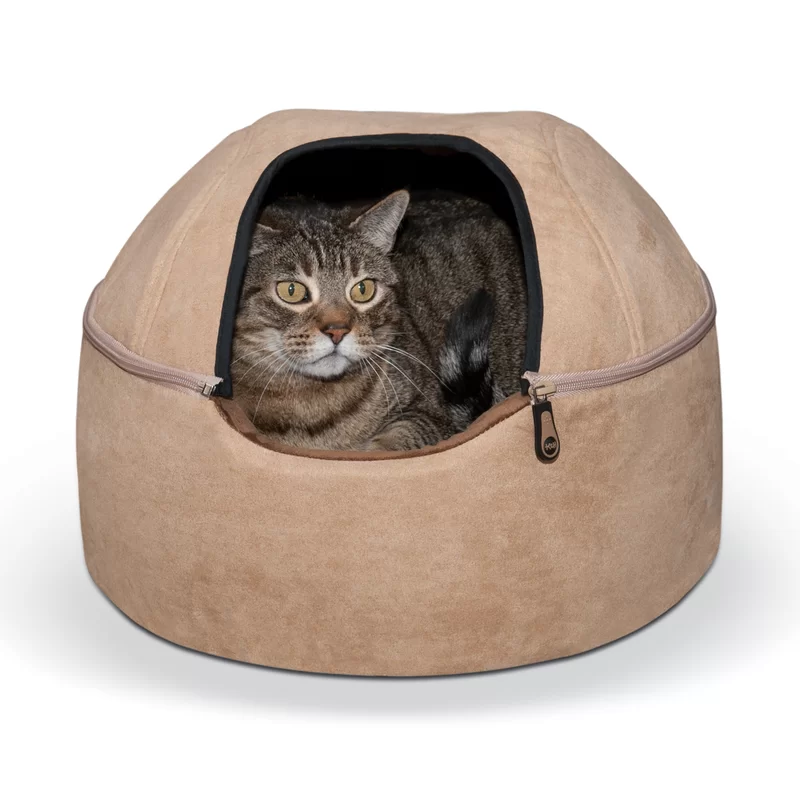 Kitty Hooded Kitten beds, Heated cat bed, Heated outdoor