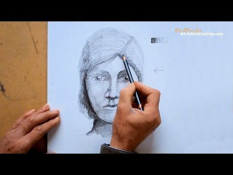 Sketching a face with pencil sketching and shading portrait sketching techniques youtube