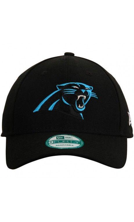 NFL Men s Carolina  Panthers New Era Black Structured 9FORTY Adjustable  Hat   sports  gear 795074744
