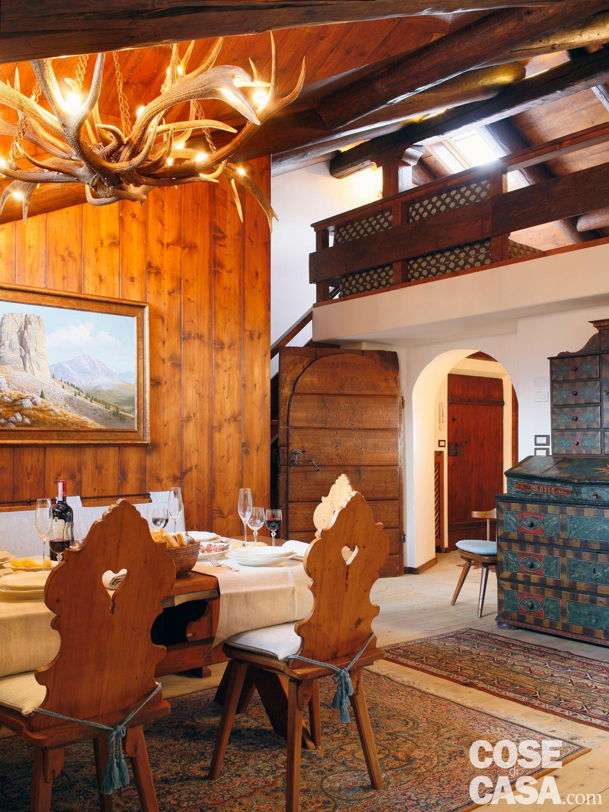 Mansarda tutta legno nuova vita per la casa di montagna for Arredamento chalet legno