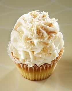 Gigi's Cupcakes - Italian Cream: Italian cream cake topped with cream cheese frosting and toasted coconut.