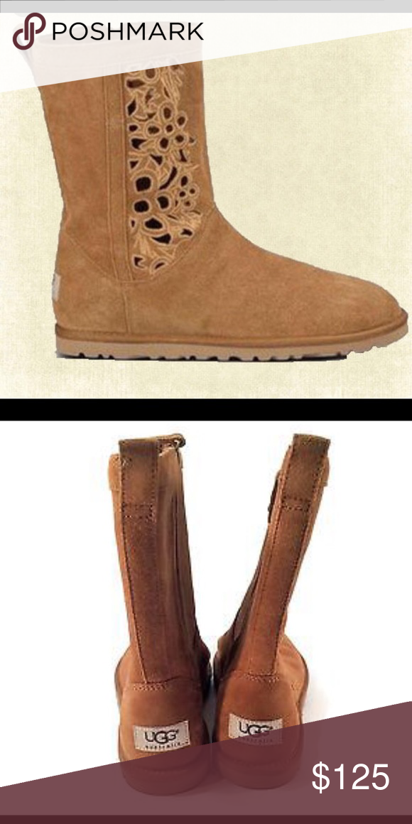 Uggs Super cute. Design is cut out in boot. Brand new and still in box. Never worn. UGG Shoes Winter & Rain Boots