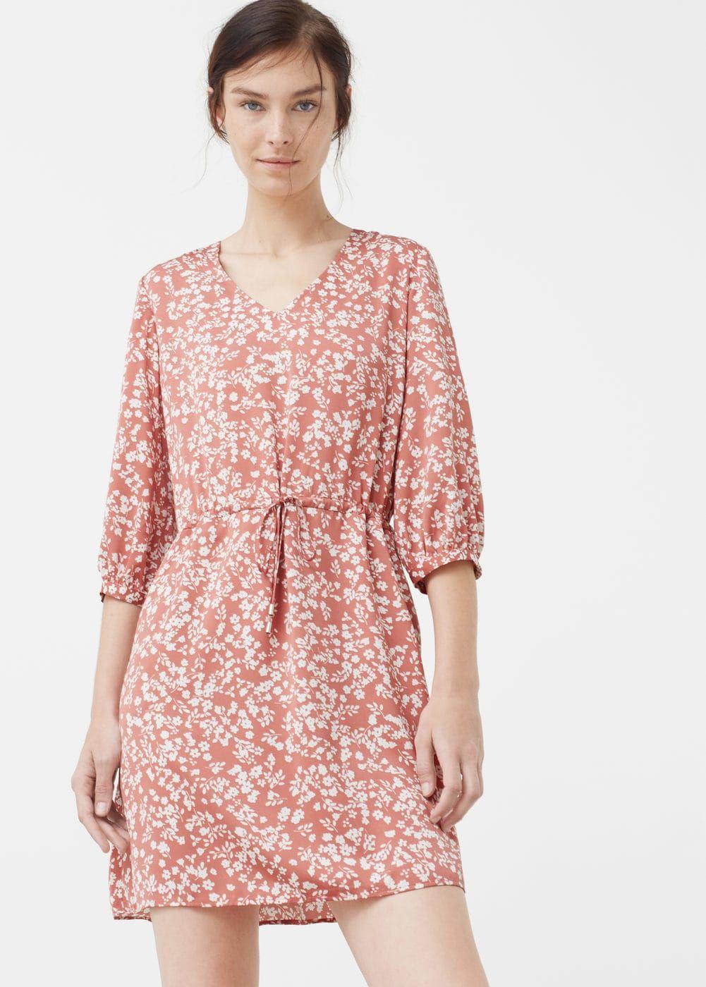 Vestido fluido floral - Mujer | Vestidos fluidos, Florales y Mango