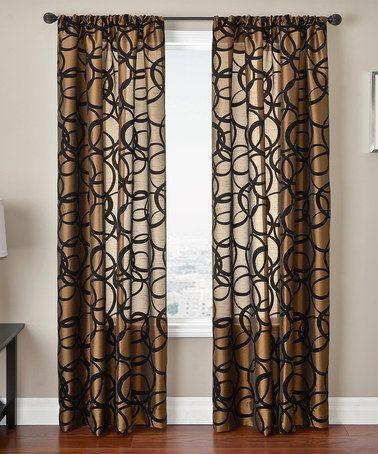 This Copper U0026 Black Metropolitan Curtain Panel Is Perfect! #zulilyfinds