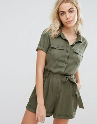 cdee4299bf1 Superdry Utility Playsuit with Tie Waist