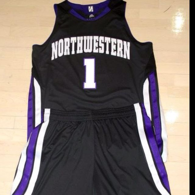new products 4b0b0 d91cf Northwestern University Men's Basketball uniforms during ...