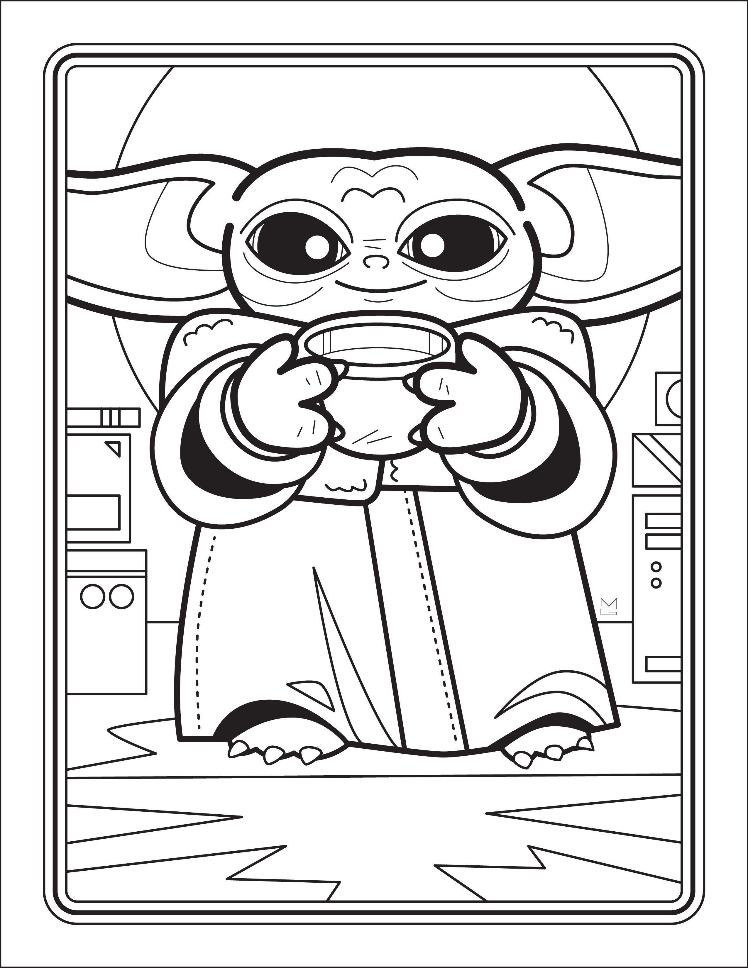 Kostenlos Herunterladbare Baby Yoda Malbuch 2020 Boyama