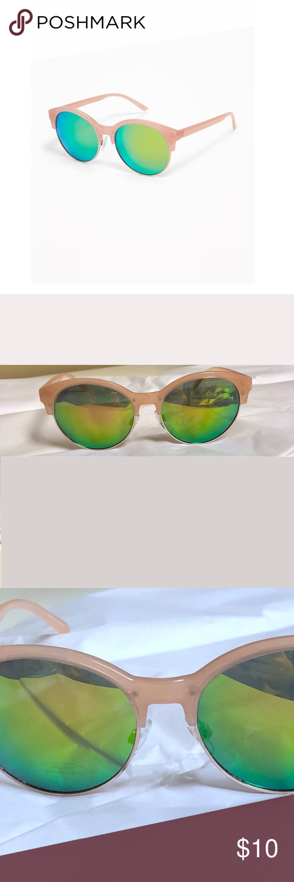 809cf955023 Vintage Pink Half Frame Sunglasses The retro-inspired half-frames make  these a real blast from the past