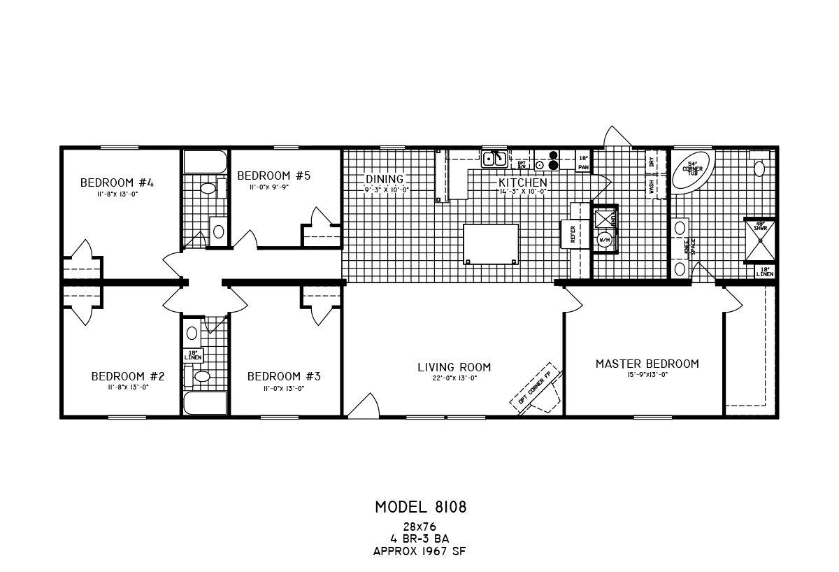 Floor Plan Detail C & W Mobile Homes in 2020 Mobile